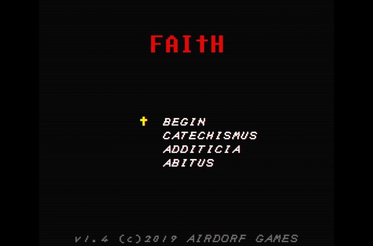 FAITH: CHAPTER I