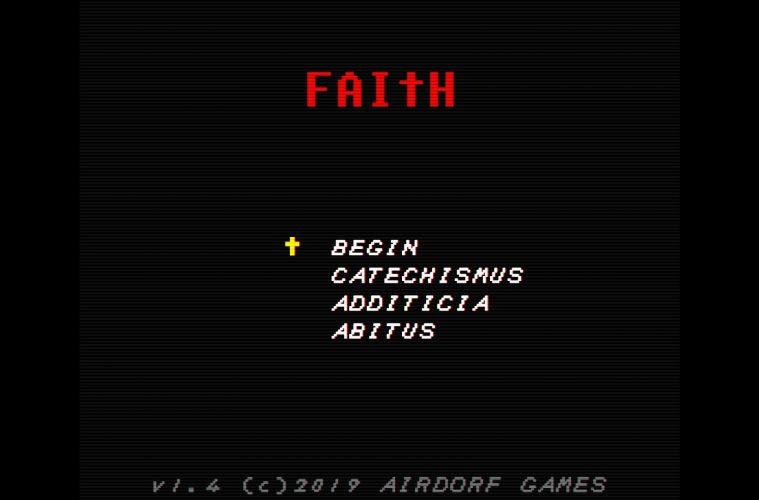 FAITH: CHAPTER I